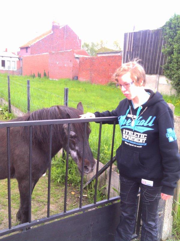 voici moi avec mon cheval