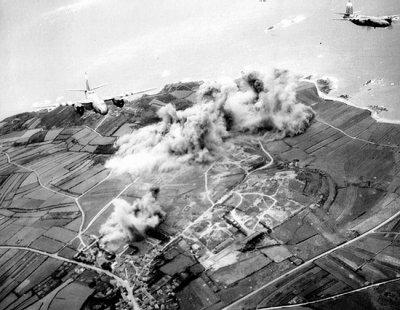 Bombardement de la batterie d'Auderville-  Pointe de la Hague