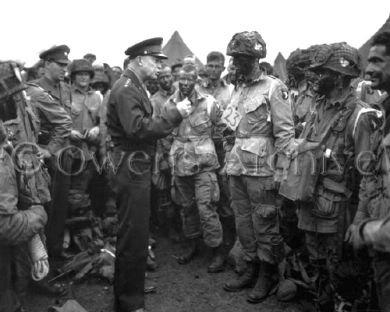 Eisenhower avec la Compagnie E, 101e Aéroporté