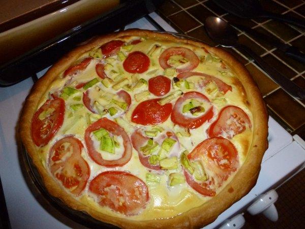 tarte tomates, courgette et thon