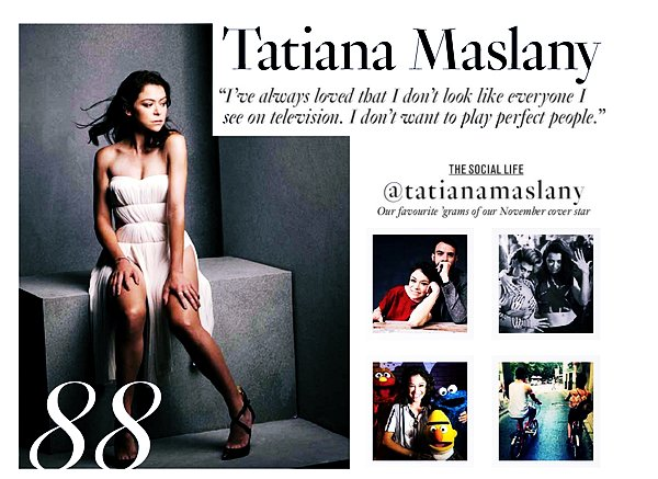 People Photoshoot - Interview Tatiana Maslany pour Glamour Magazine (Novembre 2016)
