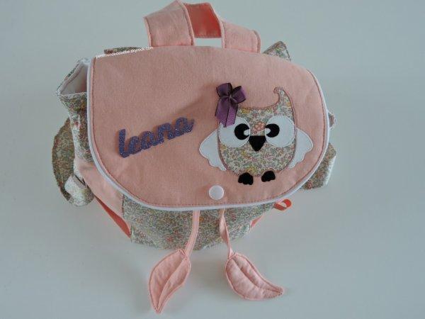 """Petit sac à dos personnalisable confectionné en """"tissus coton& Liberty"""