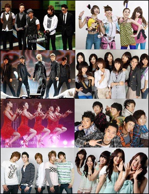 TOP 5 K-CHANTEURS/GROUPES :