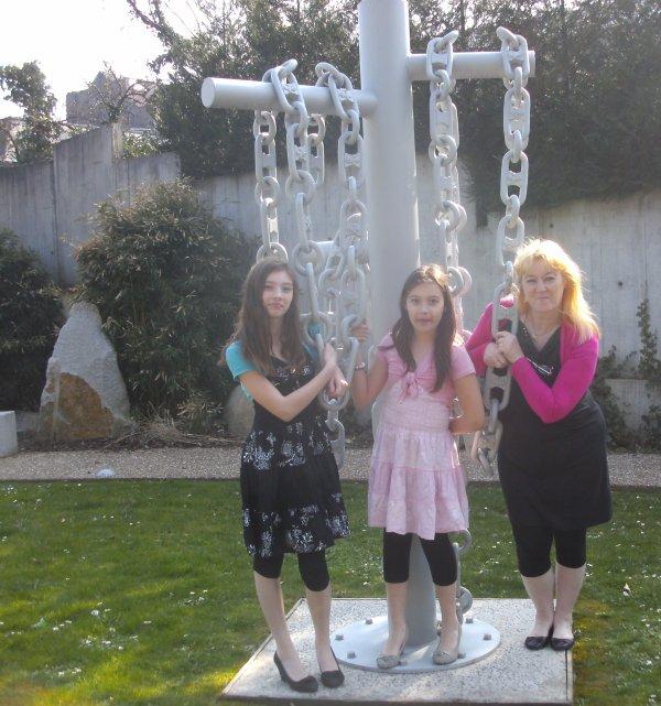 moi et mes deux petites filles