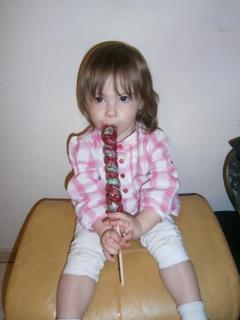 ma petite fille maeva bientot 2 ans trop mimi