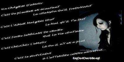 3 Poeme Chagrin Damour Blog De Emoo Love Bye Me