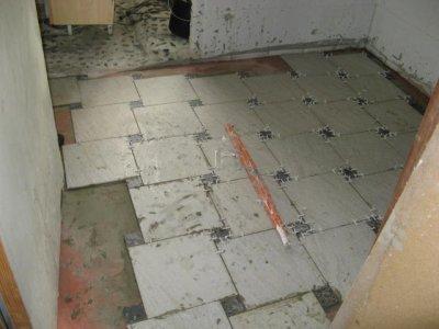 Carrelage salle de bain ma maison bois - Salle de bain ton pierre ...