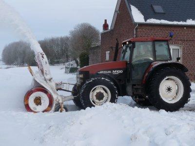 un peu de neige ici prés de Cambrai