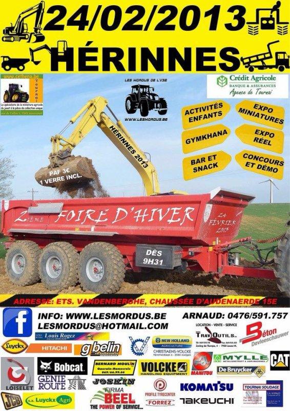 Venez me voir  à Hérinnes le 24 Février 2013