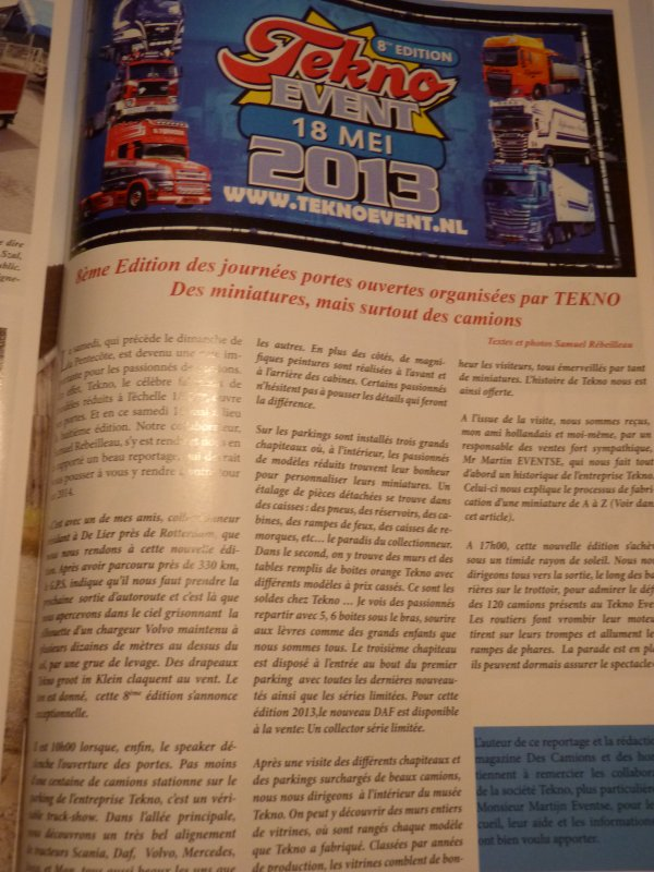 mes reportages dans le magazine Des camions et Hommes  allez en kiosque le chercher