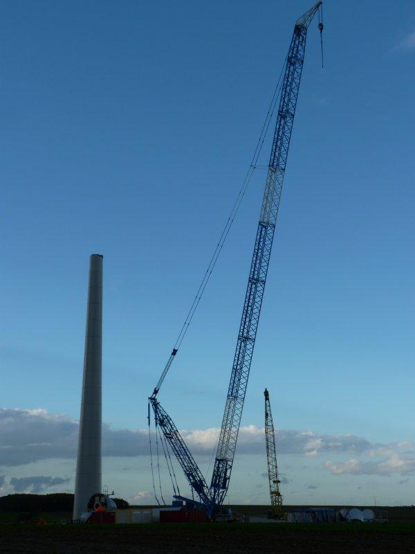 Montage éoliennes  Epehy 80  Demag, Liebheer , Kobelco