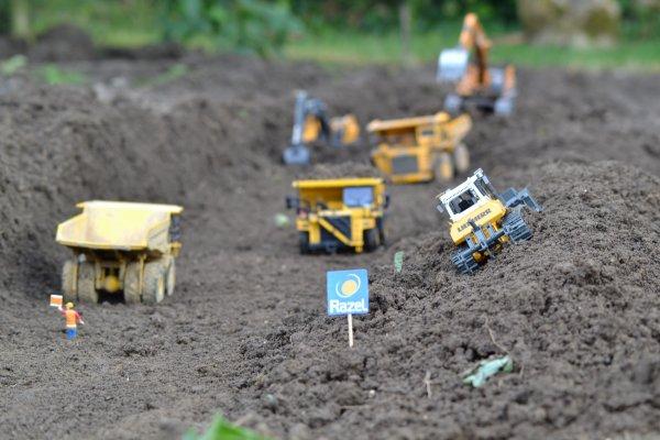 petit chantier de terrassement dans le jardin
