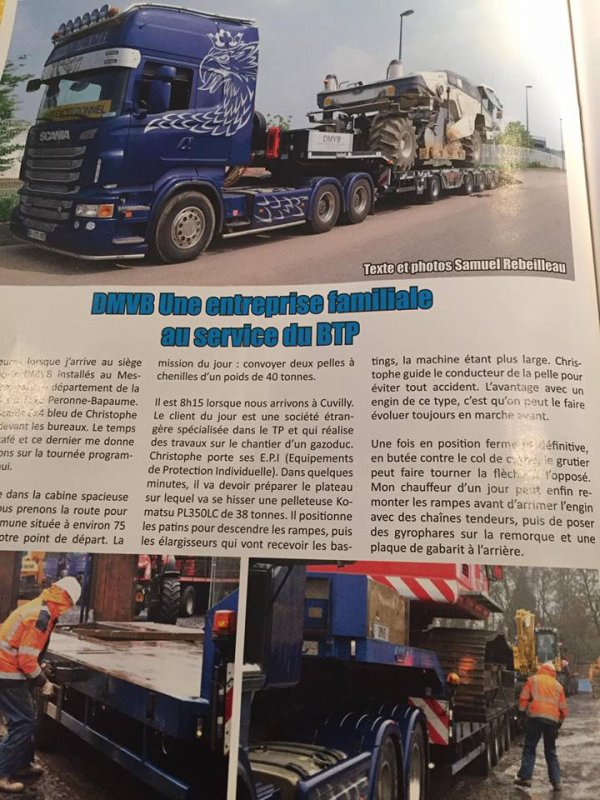 Mon reportage  dans  Trucking style
