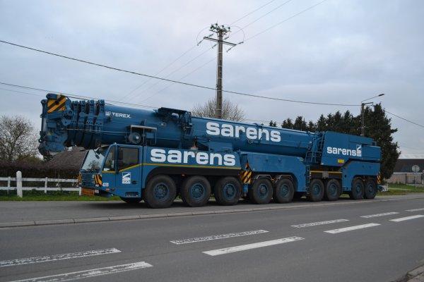 AC 700 Sarens et  AC  500 PONTICELLI  sur les routes du Nord