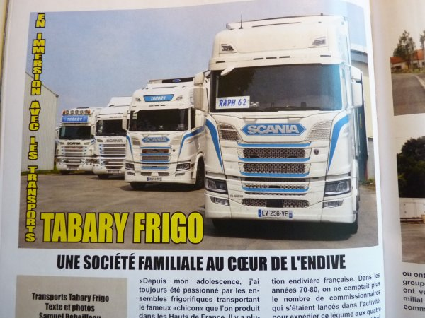 Mon reportage sur les Transports TABARY FRIGOdans le Trucking Style 23