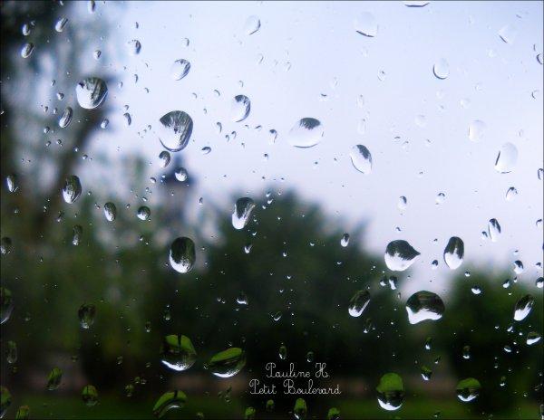 De petites goutes sur nos fenêtres...