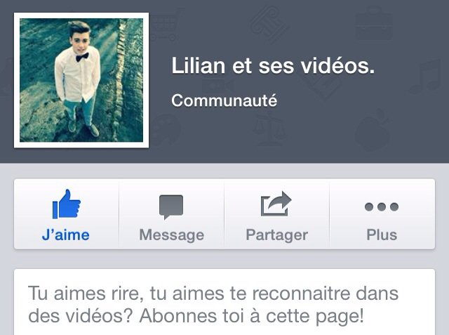 Ma page facebook : Lilian et ses videos