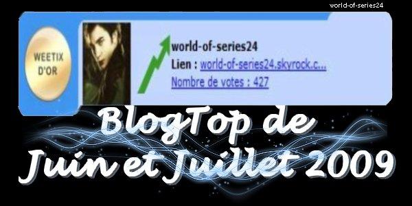 Blog Top de Juin et Juillet 2009