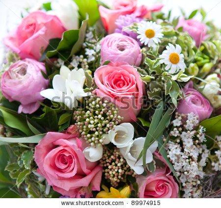 des fleurs pour vous dire bonjour.