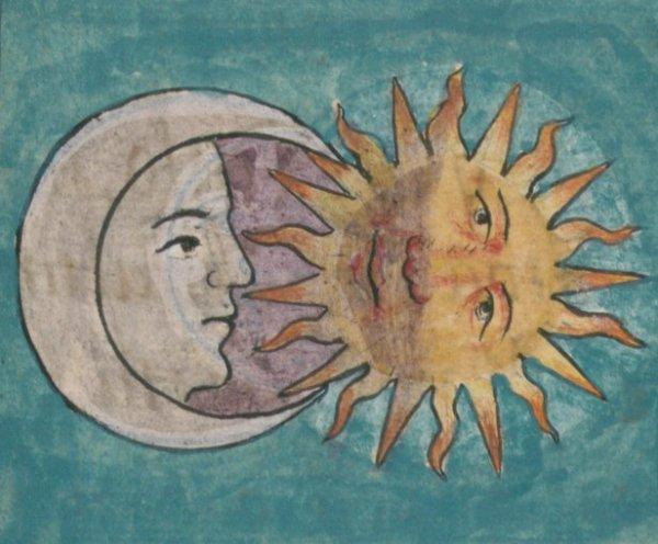 légende aztèque :la légende  du soleil et de la lune