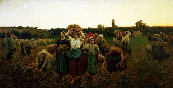le rappel des glaneuses de Jules Breton