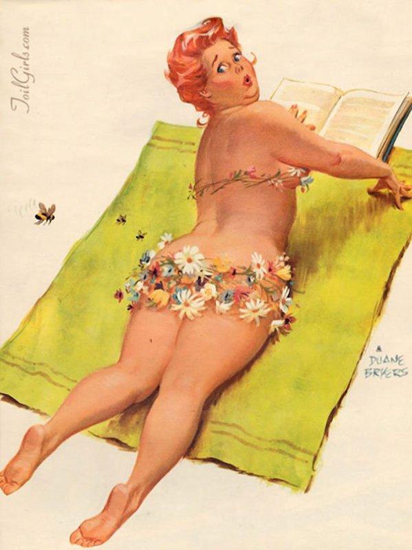voici Hilda la première pin up ronde des années 50
