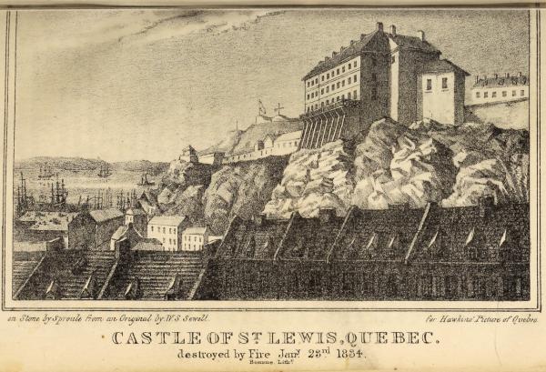le chateau saint Louis à Quebec
