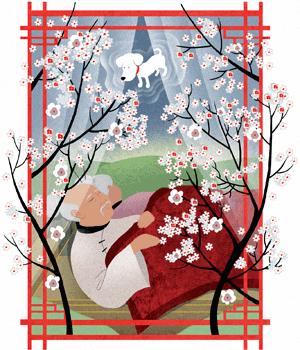 le grand père qui faisait fleurir les arbres