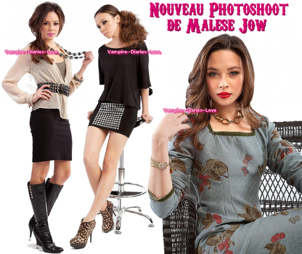 New photoshoot de Malese Jow