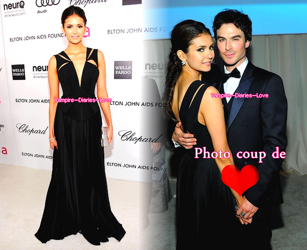 26/02 : Nina et Ian étaient présents à la fête organisée par la Fondation Elton John AIDS à l'occasion de la 84ème Cérémonie des Oscars (Academy Awards)