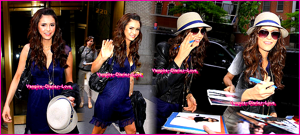 Flashback : Candids du 06 mai 2010 : Nina sort de Pix Morning Show