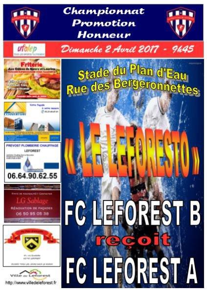 Prochain Match du FC Leforest