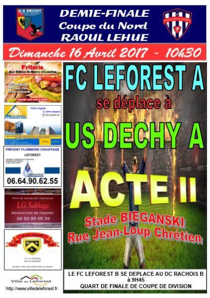 Prochains matchs du FC Leforest