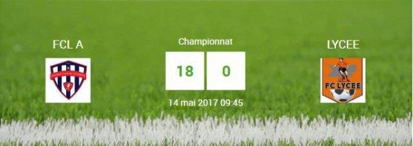 Résultat du match du 14 mai 2017