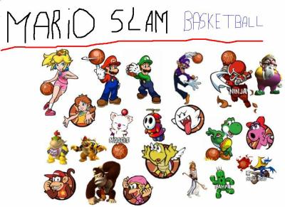 mario slam basketball didi. Black Bedroom Furniture Sets. Home Design Ideas