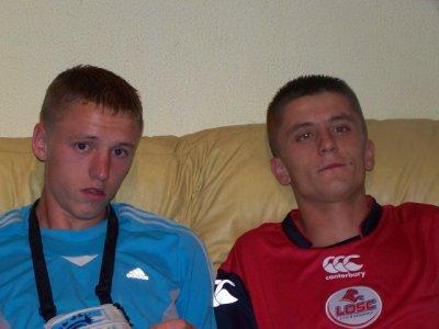 mon frère Samuel et moi  (suis a droite)