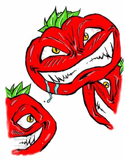 4eme dessin l 39 attaque des tomates tueuses blog de noctis lucis37 - Tomate dessin ...
