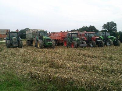 Battage maïs