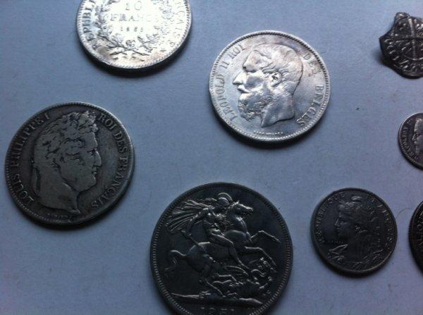 A vendre monnaies en argent