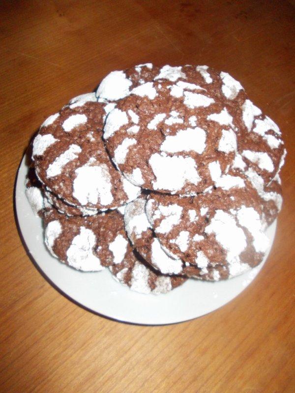 biscuit craquelés au chocolat