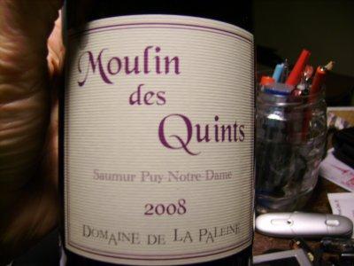 MOULIN des QUINTS   Saumur Puy de Notre Dame   2008