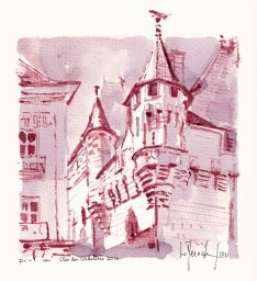 midi une tourelle de la mairie