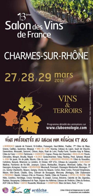 13ème salon des vins de France à Charmes sur Rhone ...