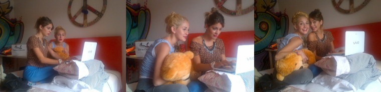 Twitcam de Tini et Mechi