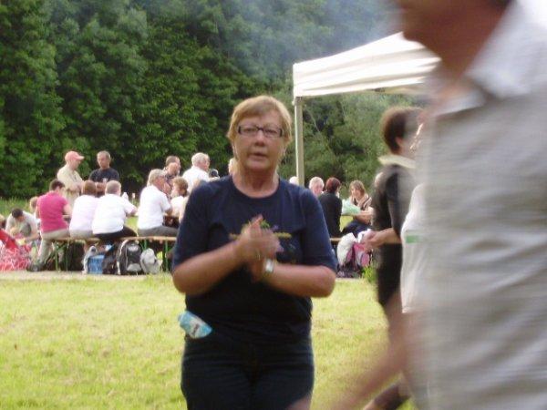 Claudine de retour après quelques pas sur la piste verte..