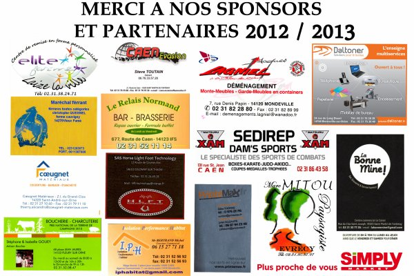 Merci à la mairie, partenaires et sponsors...