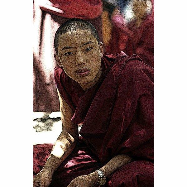 Jeune moine Tibetain