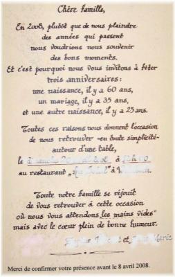 Set Pour Anniversaire 1 Invitation Calligra Finck