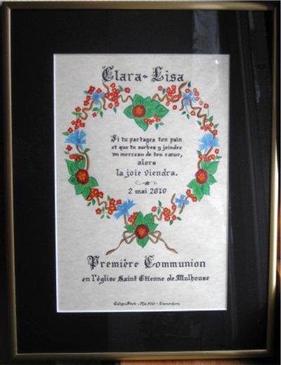 Image de Communion (comme d'antan !)