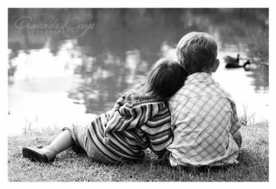 Enfant Amoureux en Noir & blanc